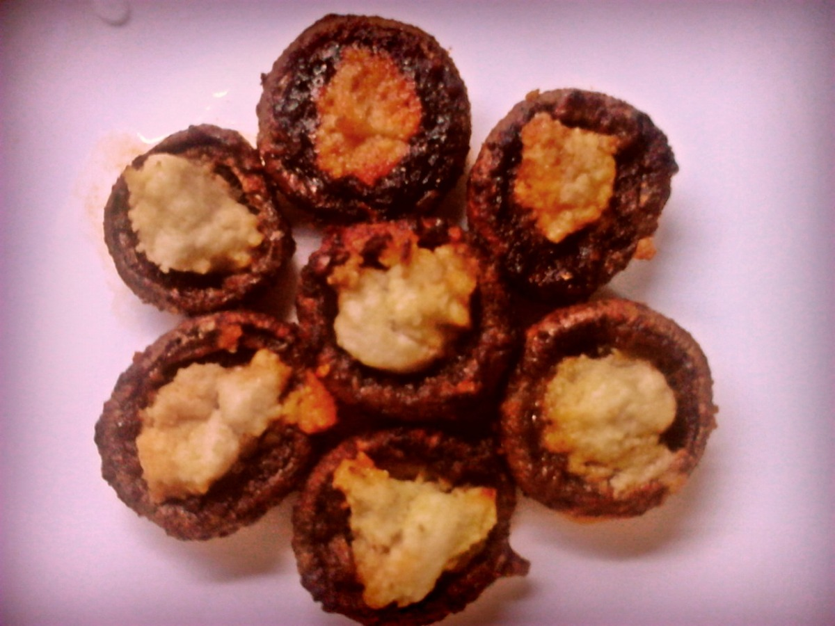 Baked Spicy Mushrooms/ Печени зачинети печурки
