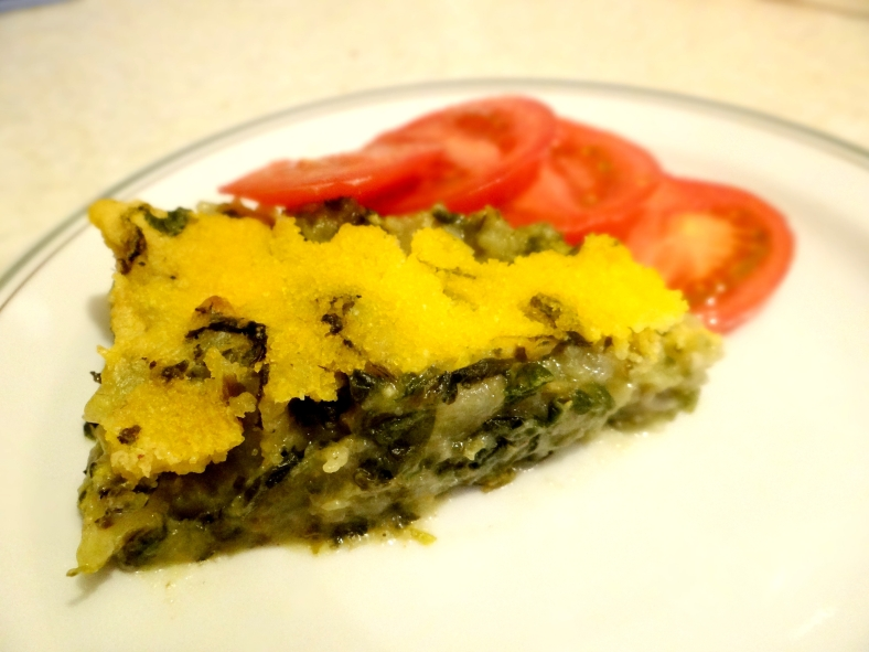 Easy Vegan Potato and Spinach Frittata / Лесна посна фритата од спанаќ и компири